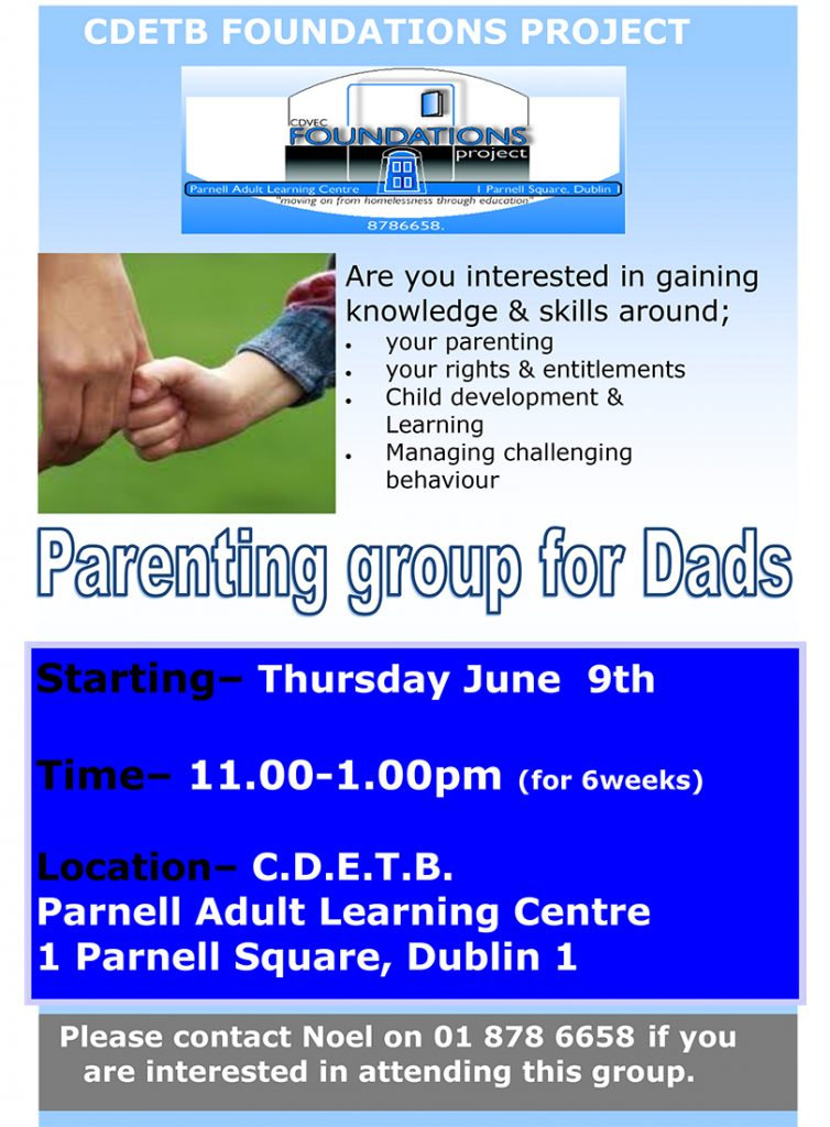 Parenting group for Dads poster