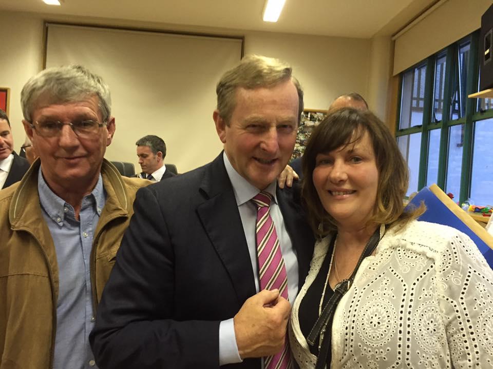 HOPE Senior Project Worker - Joe Dowling, An Taoisigh - Enda Kenny, & Manager @ HOPE - Irene Crawley
