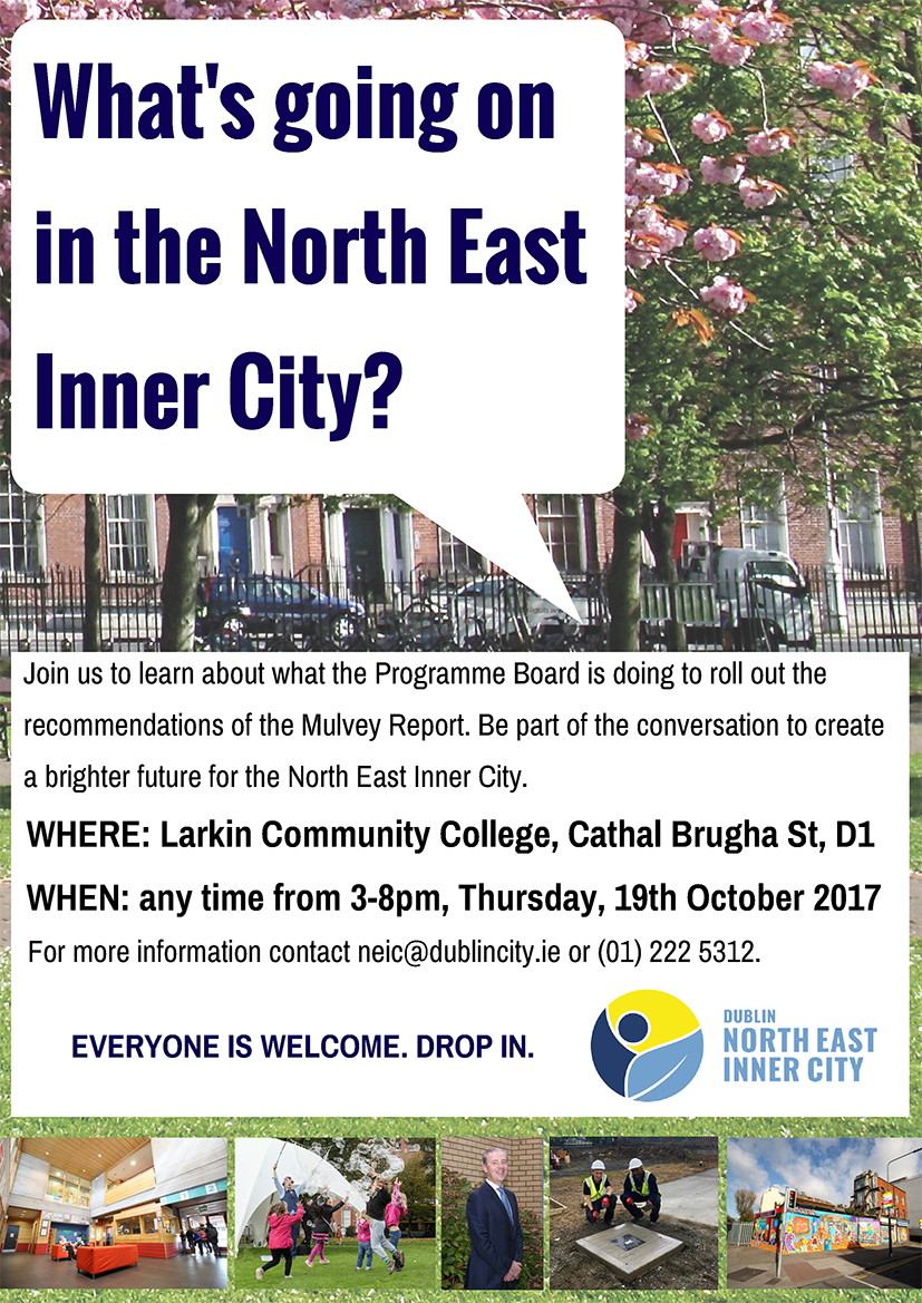 What's going on in Dublin's North East Inner City? – Event Notice