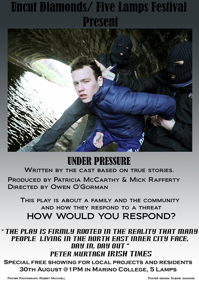 Under Pressure – a play about a family, the community and how they respond to a threat.