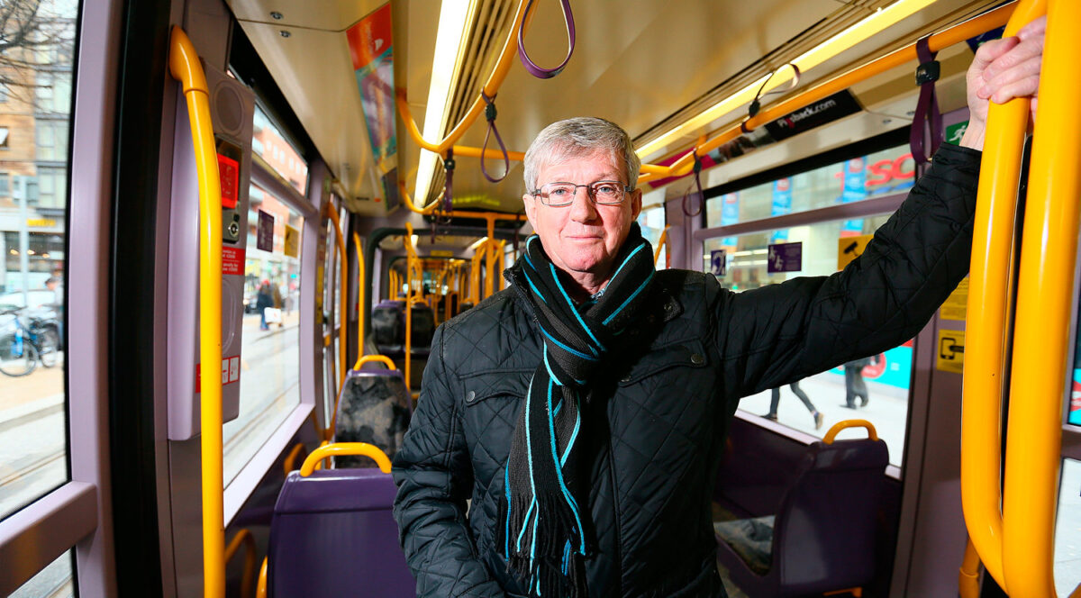 A ride on the Luas Cross City with Joe & Terry